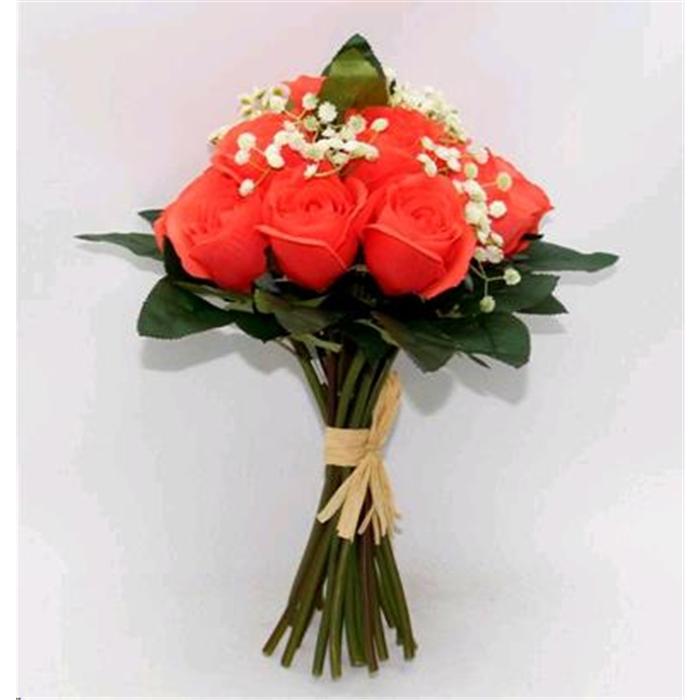Букет из ткани розы