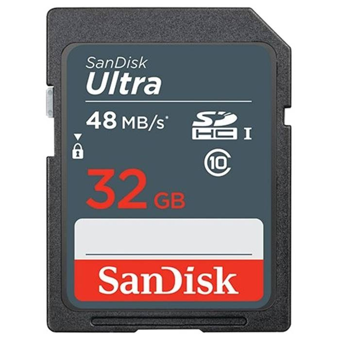 Карта памяти SD 32Gb Sandisk(SDSDUNB-032G-GN3IN Class10 Ultra UHS-I 48MB/s)